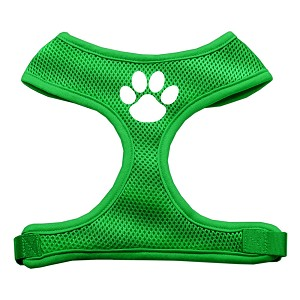 Paw Design Soft Mesh Harnesses Emerald Green Medium