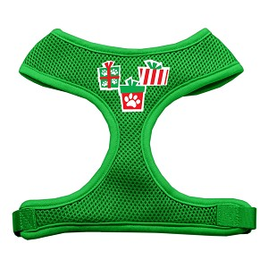 Presents Screen Print Soft Mesh Harness Emerald Green Medium