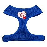Puppy Love Soft Mesh Harnesses Blue Small