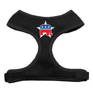 Republican Screen Print Soft Mesh Harness Black Extra Large