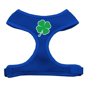 Shamrock Screen Print Soft Mesh Harness Blue Extra Large