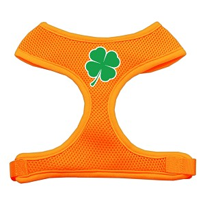 Shamrock Screen Print Soft Mesh Harness Orange Extra Large