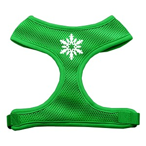 Snowflake Design Soft Mesh Harnesses Emerald Green Large