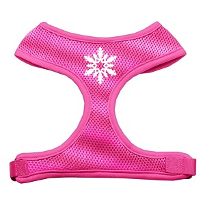 Snowflake Design Soft Mesh Harnesses Pink Large