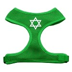 Star of David Screen Print Soft Mesh Harness Emerald Green Extra Large