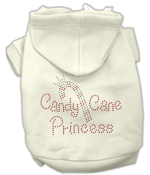 Candy Cane Princess Rhinestone Hoodie Cream XL (16)
