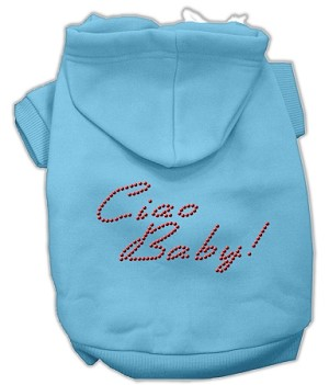 Ciao Baby Rhinestone Hoodie Baby Blue L (14)