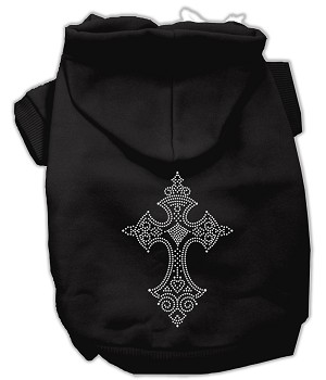 Rhinestone Cross Hoodies Black XXXL(20)