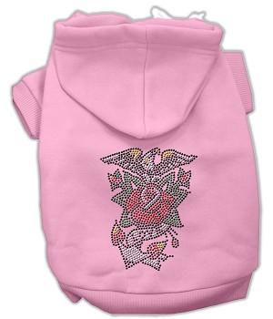 Eagle Rose Nailhead Hoodies Pink M (12)