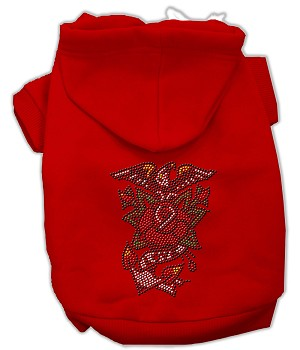 Eagle Rose Nailhead Hoodies Red S (10)