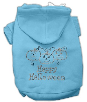 Happy Halloween Rhinestone Hoodies Baby Blue XL (16)