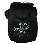 Happy St. Patrick's Day Rhinestone Hoodie Black XL (16)