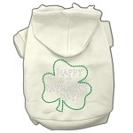 Happy St. Patrick's Day Rhinestone Hoodie Cream XL (16)