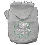 Happy St. Patrick's Day Rhinestone Hoodie Grey XL (16)