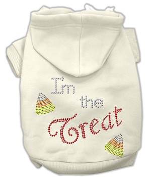 I'm the Treat Rhinestone Hoodies Cream L (14)