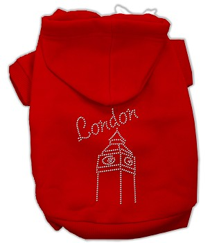 London Rhinestone Hoodies Red XL (16)