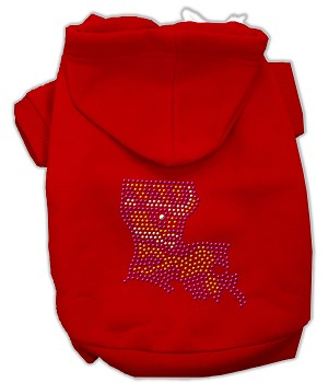 Louisiana Rhinestone Hoodie Red XL (16)