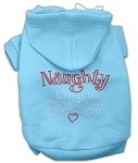 Naughty But Nice Rhinestone Hoodie Baby Blue XS (8)