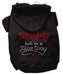 Naughty But Nice Rhinestone Hoodie Black XS (8)