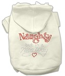 Naughty But Nice Rhinestone Hoodie Cream XS (8)