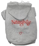Naughty But Nice Rhinestone Hoodie Grey XS (8)