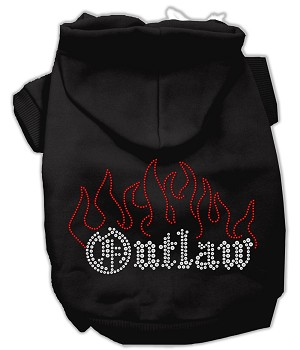 Outlaw Rhinestone Hoodies Black XXXL(20)