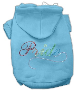 Rainbow Colored Pride Rhinestone Hoodie Baby Blue XL (16)