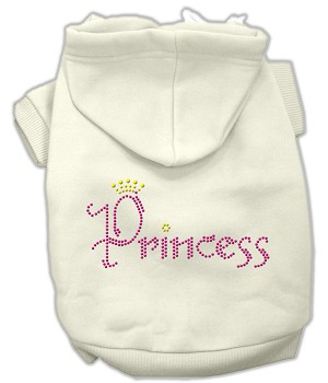 Princess Rhinestone Hoodies Cream XL (16)