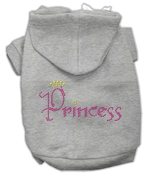Princess Rhinestone Hoodies Grey XXL (18)