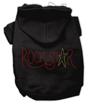 Rock Star Rhinestone Hoodies Black M (12)