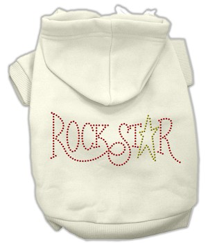 Rock Star Rhinestone Hoodies Cream L (14)