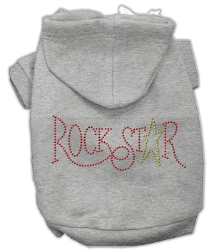 Rock Star Rhinestone Hoodies Grey XXL (18)