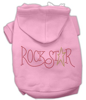 Rock Star Rhinestone Hoodies Pink L (14)