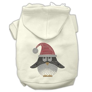 Santa Penguin Rhinestone Hoodies Cream L (14)