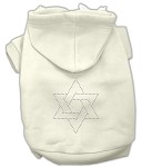 Star of David Rhinestone Hoodie Cream XS (8)
