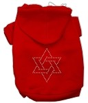 Star of David Rhinestone Hoodie Red XS (8)