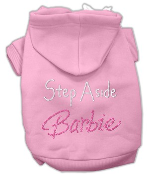 Step Aside Barbie Rhinestone Hoodie Pink XL (16)