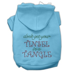 Tinsel in a Tangle Rhinestone Hoodies Baby Blue XXXL(20)
