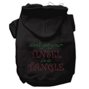 Tinsel in a Tangle Rhinestone Hoodies Black XXXL(20)