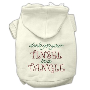 Tinsel in a Tangle Rhinestone Hoodies Cream XXL (18)