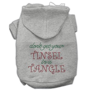 Tinsel in a Tangle Rhinestone Hoodies Grey XXL (18)