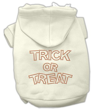 Trick or Treat Rhinestone Hoodies Cream M (12)