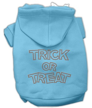 Trick or Treat Rhinestone Hoodies Baby Blue XXXL(20)