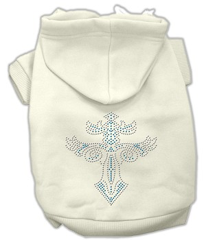 Warrior's Cross Studded Hoodies Cream M (12)