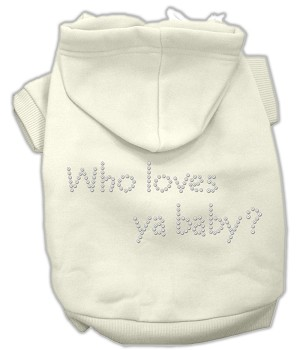 Who loves ya baby? Rhinestone Hoodie Cream XXL (18)