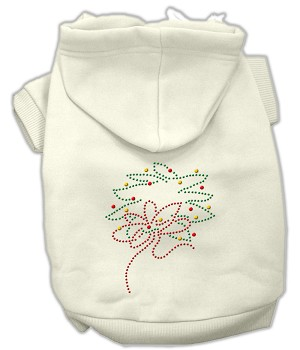 Christmas Wreath Rhinestone Hoodie Cream L (14)