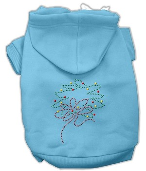 Christmas Wreath Rhinestone Hoodie Baby Blue XL (16)