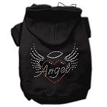 Angel Heart Rhinestone Hoodies Black XS (8)