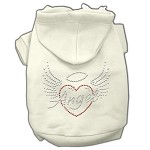 Angel Heart Rhinestone Hoodies Cream XS (8)
