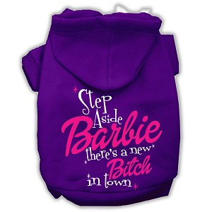 New Bitch in Town Screenprint Hoodie Purple M (12)